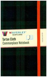 Waverley Scotland Large Tartan Cloth Commonplace Notebook - Blac
