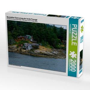 Besiedelter Fjord enlang der Inside Passage 2000 Teile Puzzle qu