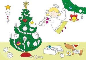 Mein buntes Malbuch Weihnachten. Rot, gold, pink - der Weihnacht
