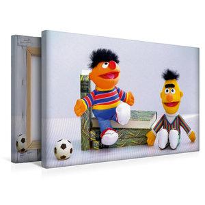 Premium Textil-Leinwand 45 cm x 30 cm quer Erni und Bernd
