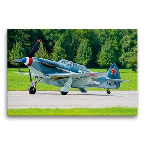 Premium Textil-Leinwand 75 cm x 50 cm quer Yakovlev Yak-3