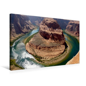 Premium Textil-Leinwand 75 cm x 50 cm quer Horseshoe Bend