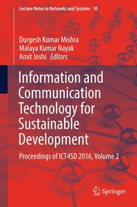 Information and Communication Technology for Sustainable Develop
