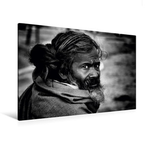 Premium Textil-Leinwand 120 cm x 80 cm quer Sadhu von Jagdev Sin