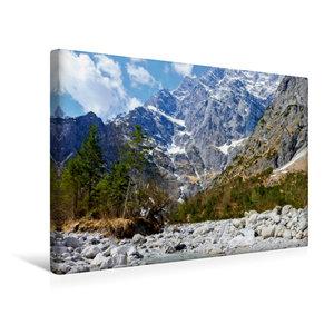 Premium Textil-Leinwand 45 cm x 30 cm quer Eisbach