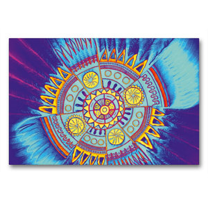 Premium Textil-Leinwand 90 cm x 60 cm quer Indian Spirit