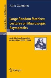 Random Matrices: Lectures on Macroscopic Asymptotics