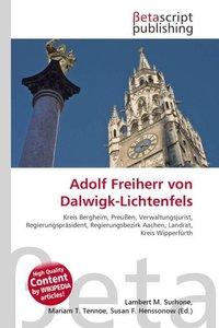 Adolf Freiherr von Dalwigk-Lichtenfels