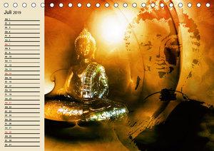 Buddha und Yin Yang (Tischkalender 2019 DIN A5 quer)