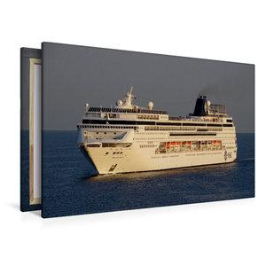 Premium Textil-Leinwand 120 cm x 80 cm quer Kreuzfahrtschiff MSC