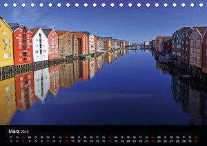 Kystriksveien und Trondheim (Tischkalender 2019 DIN A5 quer)