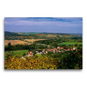 Premium Textil-Leinwand 75 cm x 50 cm quer Saaletal