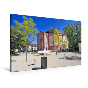 Premium Textil-Leinwand 90 cm x 60 cm quer Ludwigskirche