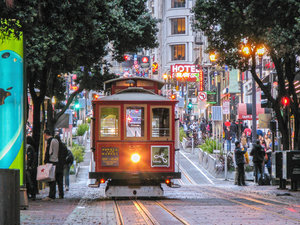 CALVENDO Puzzle Cable Car an der Station Powell and Market Stree