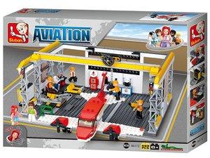 Sluban AVIATION M38-B0372 - Flugzeug Hangar, 599 Teile
