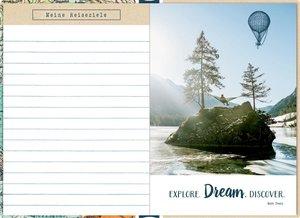 Eintragbuch mit Sammeltasche - Mein Reisetagebuch (Landkarte)