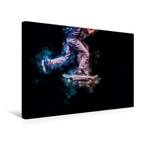 Premium Textil-Leinwand 45 cm x 30 cm quer Skateboarding
