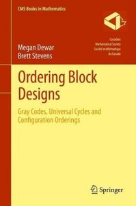 Ordering Block Designs