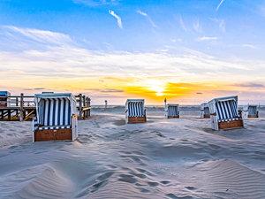 CALVENDO Puzzle Sonnenuntergang am Strand 1000 Teile Lege-Größe