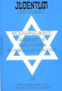 Rabbinische Traditionen bei Nikolaus von Lyra