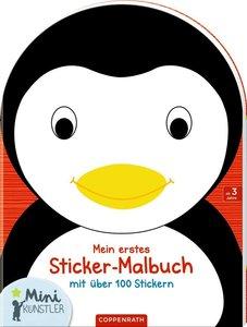 Mein erstes Sticker-Malbuch: Pinguin