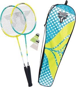 Talbot Torro 449403 - Badminton-Set Fighter 2er Set, 2 Alu-Schlä