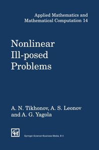 Nonlinear Ill-Posed Problems