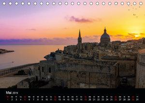 Maltesische Ansichten (Tischkalender 2019 DIN A5 quer)