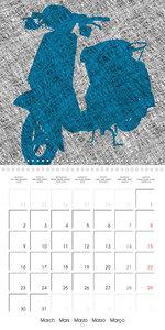 Urban illustration (Wall Calendar 2020 300 × 300 mm Square)