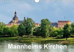 Mannheims Kirchen (Wandkalender 2020 DIN A4 quer)