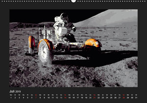 Landing On The Moon Like A Cartoon (Wandkalender 2019 DIN A2 que