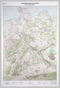 Poster Landschaftskarte Deutschland 1:750 000 ohne Bestäbung