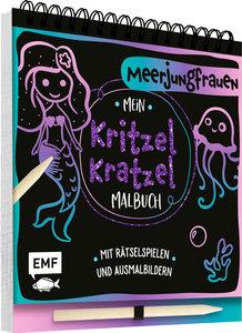 Mein Kritzel-Kratzel-Malbuch - Meerjungfrauen
