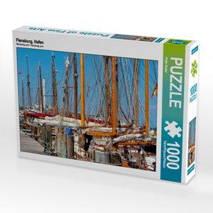CALVENDO Puzzle Flensburg, Hafen 1000 Teile Lege-Größe 64 x 48 c
