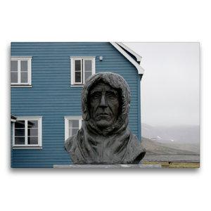 Premium Textil-Leinwand 75 cm x 50 cm quer Statue des erfolgreic