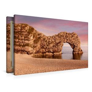 Premium Textil-Leinwand 90 cm x 60 cm quer Durdle Door Dorset