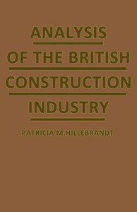 Analysis of the British Construction Industry