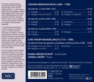 Gambensonaten 1-3 BWV 1027-1029/+