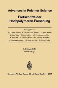 Advances in Polymer Science / Fortschritte der Hochpolymeren-For