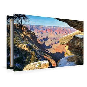 Premium Textil-Leinwand 120 cm x 80 cm quer Grand Canyon South R