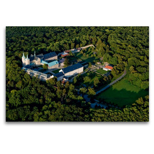 Premium Textil-Leinwand 120 cm x 80 cm quer Kloster Huysburg