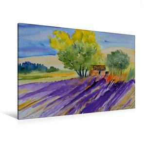 Premium Textil-Leinwand 120 cm x 80 cm quer Provence