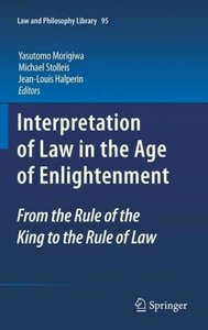 Interpretation of Law in the Age of Enlightenment