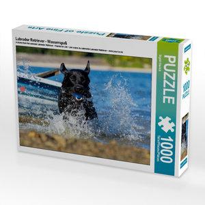 Labrador Retriever - Wasserspaß 1000 Teile Puzzle quer