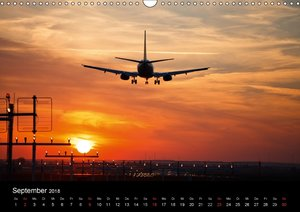 Flugzeuge im Sonnenuntergang