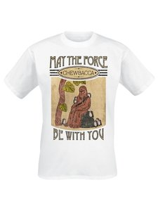 Chewbacca-May The Force (Shirt XL/White)