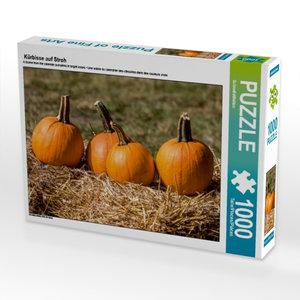 Kürbisse auf Stroh 1000 Teile Puzzle quer