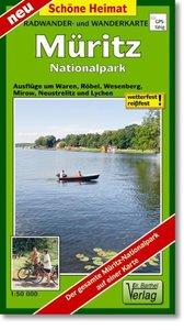 Müritz-Nationalpark 1 : 50 000 Radwander- und Wanderkarte
