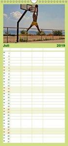 Basketball Action - Familienplaner hoch (Wandkalender 2019 , 21