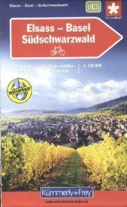 KuF Schweiz Radkarte Elsass - Basel - Südschwarzwald